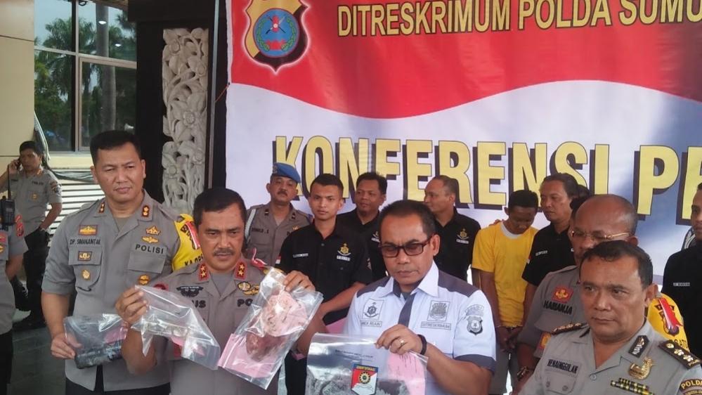 Kapolda Sumut Konfrensi Press Terkait Kasus Pembunuhan Indri Lestari warga Binjai Km 18