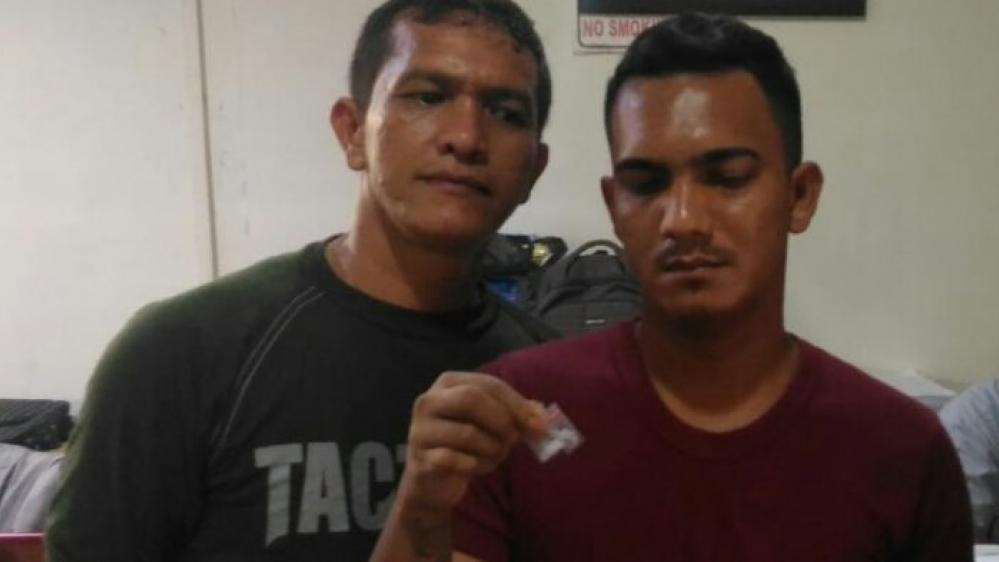 Polrestabes Medan Gulung Seorang Pria Diduga Pengedar Narkoba