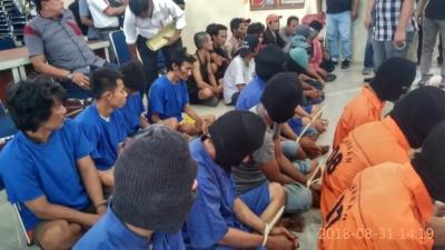 Kapolres Pelabuhan Belawan AKBP Ikhwan Lubis SH, MH Press Release Tangkapan Tindak Kriminal