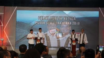 Debat publik ketiga Pemilihan Gubernur dan Wakil Gubernur (Pilgub) Sumatera Utara