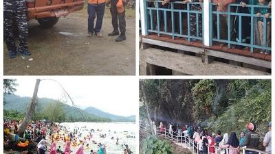 Posmat Tapak Tuan Bersama Team SAR Aceh Selatan Bersinergi Dalam PAM Lebaran Obyek Wisata