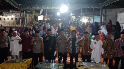 Ratusan Warga Bagan Asahan Padati Acara Tabligh Akbar Dan Silaturahmi Bersama Kapolres Asahan