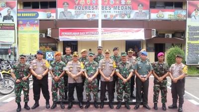 Kapolrestabes Medan Pelepasan Patroli Gabungan TNI-Polri