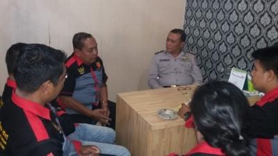 Kunjungan Kerja Organisasi PB Arjuna News, Dengan Kasubbid Penmas Humas Polda Sumut AKBP MP Nainggolan