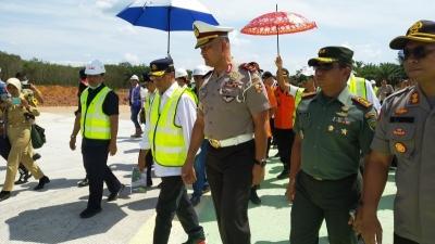 kakorlantas  Polri Tinjau Pengerjaan Tol Terbanggi Besar Pematang Panggang Lampung