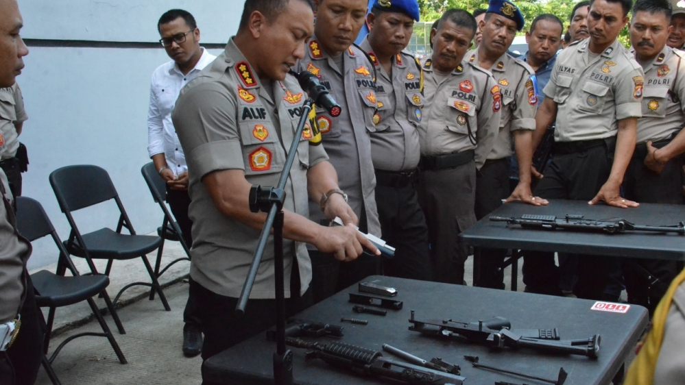 Sepekan Setelah Lebaran, Polresta Tangerang Gelar Lomba Bongkar-Pasang Senjata