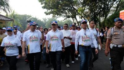 Kapolda Banten Lepas Puluhan Ribu Orang Gerak di Acara Festival Damai Kebhinekaan