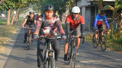 Dandim 0735/Surakarta Ikuti Gowes Bersama Pamen Kodam IV/Diponegoro