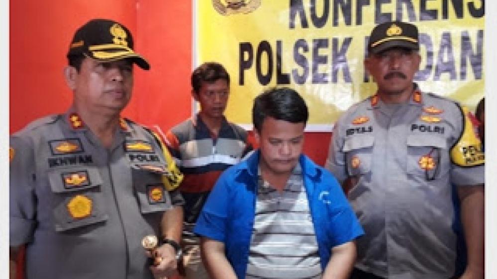 konferensi Pers Polsek Medan Labuhan, Berhasil Diringkus Kasus Sodomi 2 Bocah