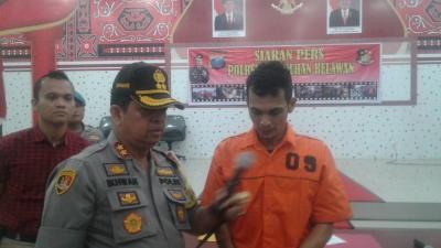 Satreskrim Polres Pelabuhan Belawan Amankan Pelaku Spesialis Pembobol ATM