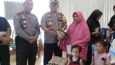 AKBP Ikhwan Lubis SH .MH Kunjungan Ke Kediaman Ibu Novi Dan Ke 3 Anak Yatim Piatu, Bantuan Paket Sembako