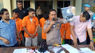 Polres Asahan Bekuk 7 Orang Bandit Jalanan, 5 di Tembak