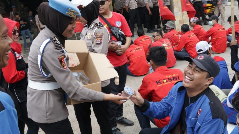 Demo Buruh, Polresta Tangerang Terapkan Skema Pengamanan Berpelayanan
