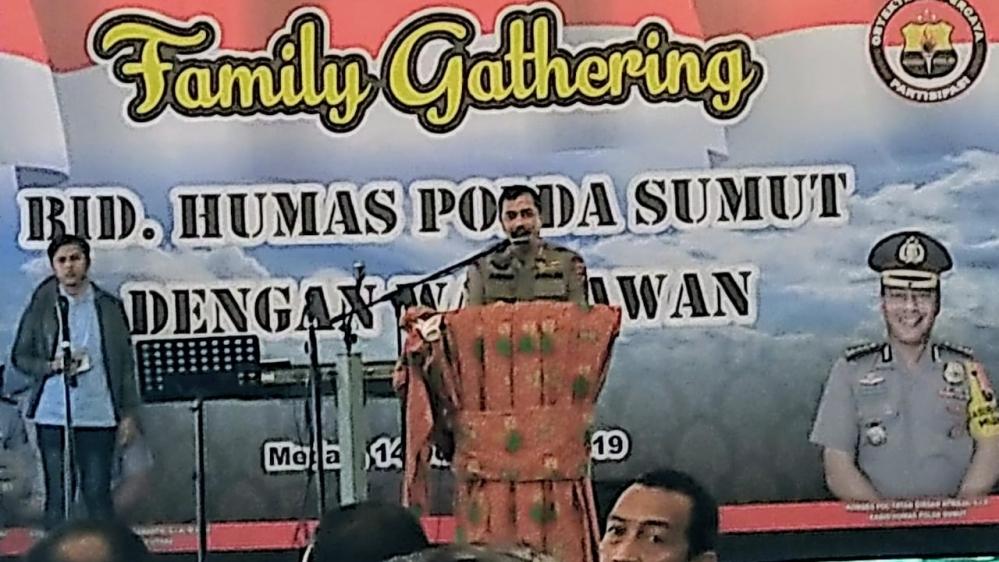 kapolda Sumut Pamit Kepada Wartawan Sumatera Utara