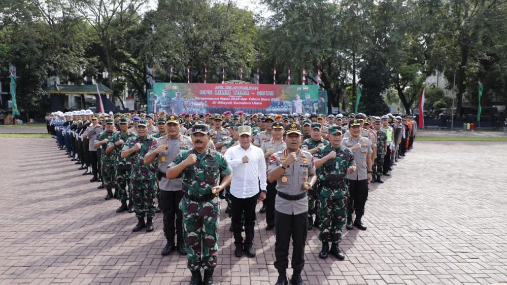 Panglima TNI Dan Kapolri Sebagai Inspektur Upacara, Apel Gelar Pasukan Operasi Lilin Toba 2019