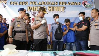 Polres Belawan Konfrensi Pers Di Rumah Sakit Bhayangkara, Kasus Narkotika