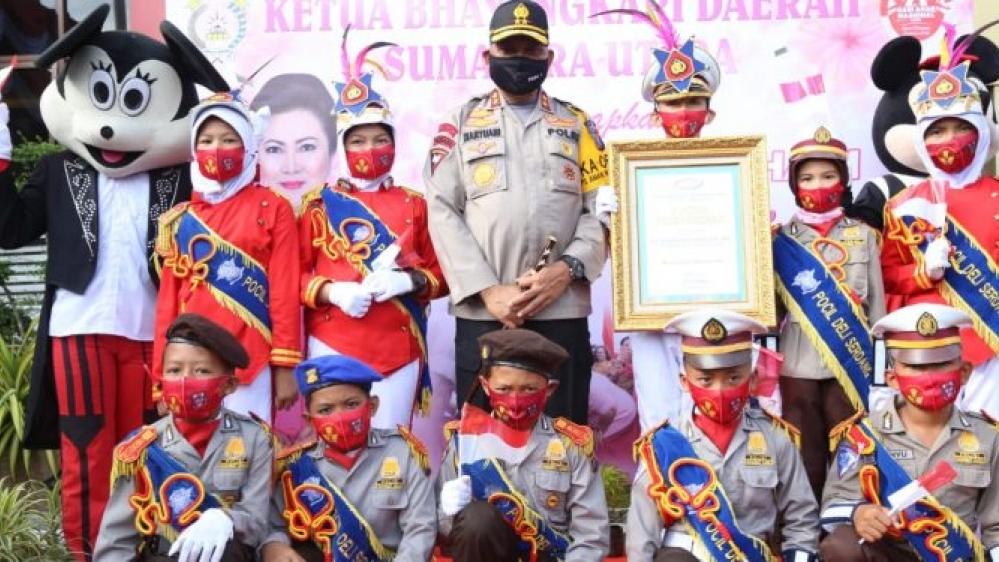 Peringatan Hari Anak Nasional di Mapolda Sumut, Martuani Bilang Anak-Anak Indonesia hebat Luar Biasa
