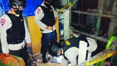 Jibom Gegana Polda Sumut Amankan Bom Mortir di Desa Bandar Klippa