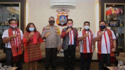 Kapolda Martuani Sormin Bersilaturahmi Bersama Pengurus GBKP di Mapolda Sumut
