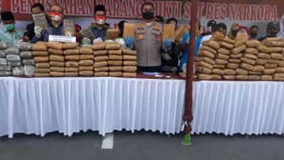 Polrestabes Medan Dan Polsek Pancurbatu Musnahkan Barang Bukti