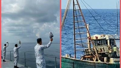 Tingkatkan Kerjasama Patroli Kedua Negara di Selat Malaka, TNI AL Dengan Tentara Laut Diraja Malaysia