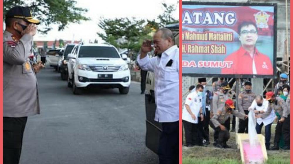 Kunjungan Ketua DPD RI Sama Rombongan Meninjau ke- SPN Hinai Polda Sumut