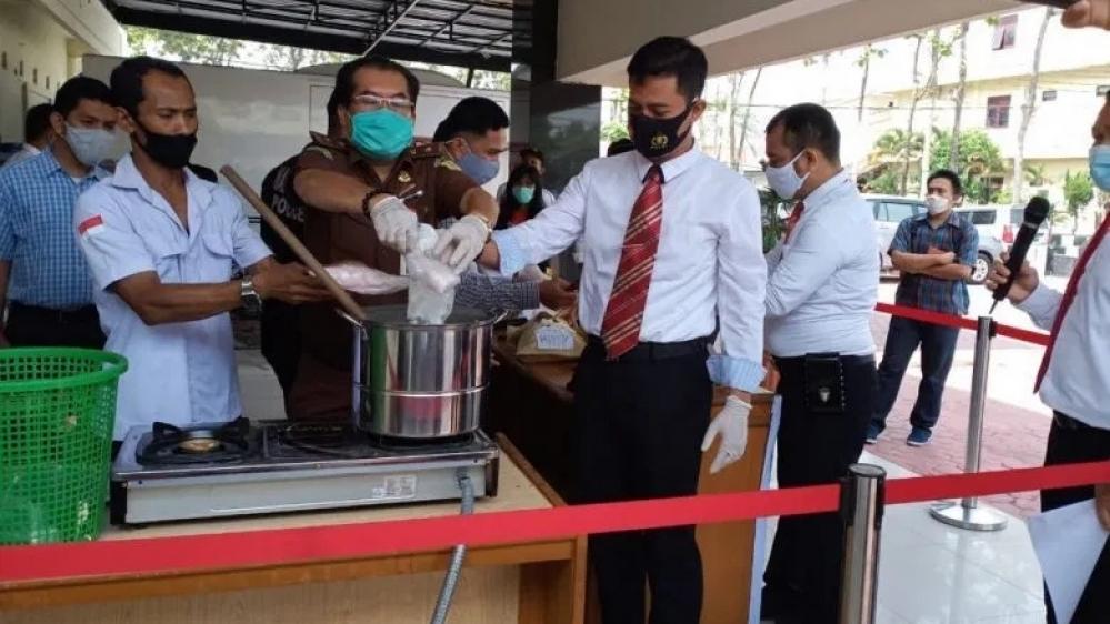 Ditresnarkoba Polda Sumut Dimusnahkan Barang Bukti 1,819 gram sabu-sabu, 172 Butir Ekstasi dan 734 gram Ganja