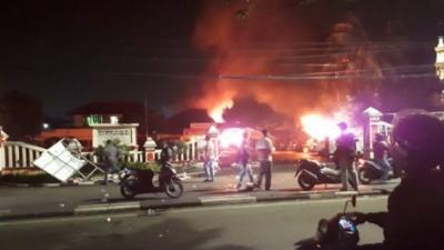 Tragedi Aksi 5 Oknum Prajurit TNI AL  Tersangka Perusakan Mako Polsek Ciracas