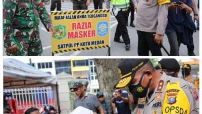 Operasi Yustisi Digelar Dalam Rangka Razia Masker, Kapolda Sumut Turun langsung Monitor