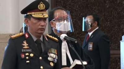 Presiden RI Jokowi Lantik Kapolri Jenderal Polisi Listyo Sigit Prabowo Gantikan Jenderal Idham Azis