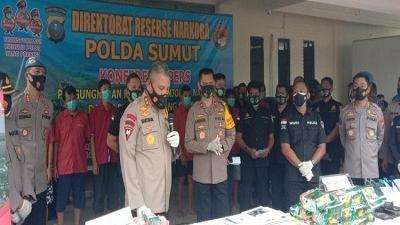 Ditresnarkoba Polda Sumur, Berhasil Menindak Jaringan Narkotika Antar Provinsi