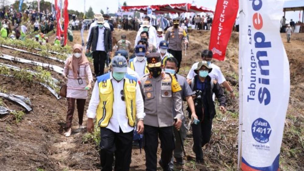 Kapolda Sumut Sama  Ketiga Menteri Kunker ke Daerah Humbahas