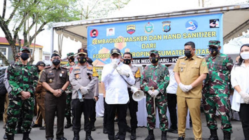Kapolda Sumut, Pangdam I/BB, Gubsu dan Walikota Medan, Pantau PPKM Mikro
