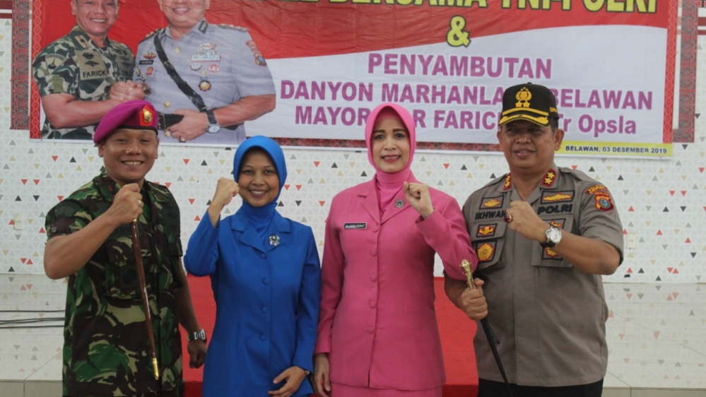 Yonmarhanlan I Belawan dan Polres Pelabuhan Belawan Jalin Silaturahmi dan Bersinergitas Dalam Pengamanan Idul Fitri
