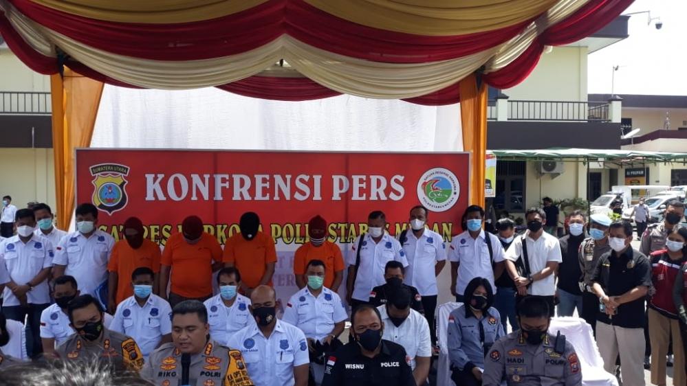 Kurir Narkoba Antar Lintas Negara Di Tangkap Sat Narkoba Polrestabes Medan