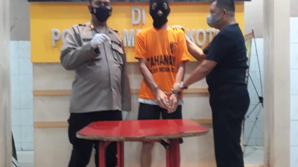 Polsek Medan Kota Ringkus Pria Pecandu Narkotika