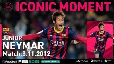 Iconic Moment Neymar JR yang Menjadi Sorotan di PES 2021 Mobile